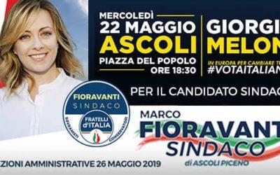 Giorgia Meloni ad Ascoli Piceno