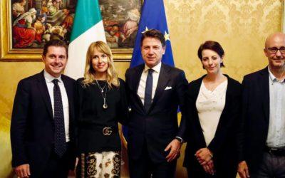 Incontro a Palazzo Chigi con il Presidente del Consiglio Giuseppe Conte