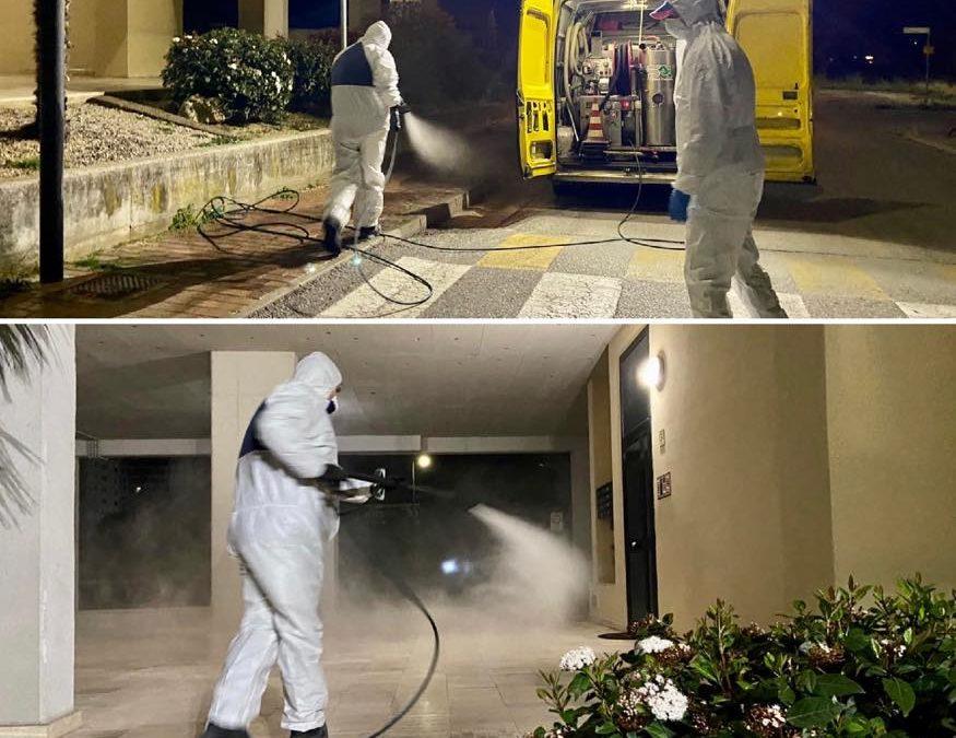 Al via questa notte la disinfezione di strade e pavimentazione urbana!
