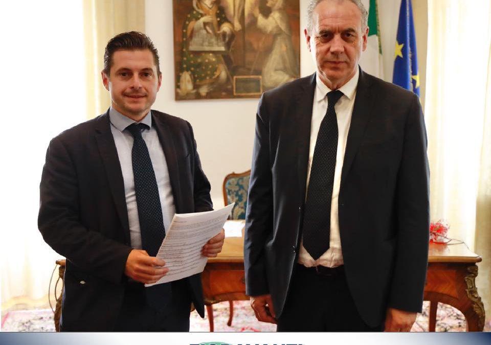 Importante incontro con il Commissario Straordinario alla Ricostruzione Giovanni Legnini!