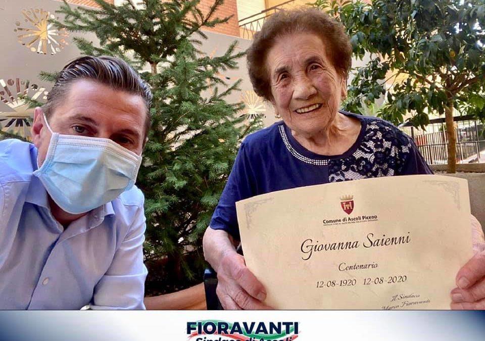 Tantissimi auguri alla centenaria Giovanna Saienni!