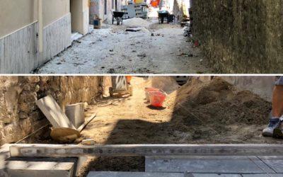 Iniziati i lavori di ripavimentazione di via Castelfidardo