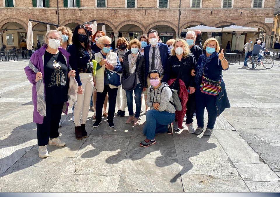 Iniziano a rivedersi anche comitive di turisti nella nostra Ascoli!