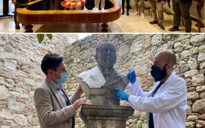 Al via il restauro dei busti lapidei presso il Giardino di Palazzo dell'Arengo!