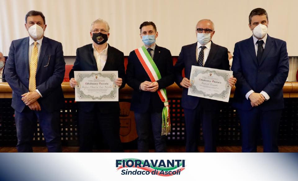 Consegna della Cittadinanza Onoraria al Dott. Battista Faraotti e al Dott. Jacques Maurice Luis Nicolet